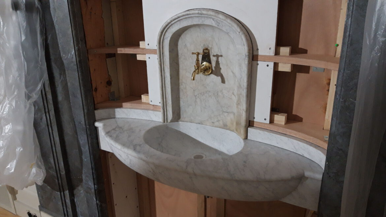Bianco Carrara wasbak